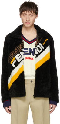 Fendi Black Shearling Mania Jacket