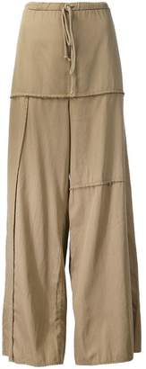 Lost & Found Rooms panelled wide leg trousers