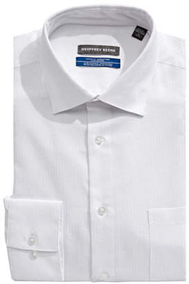Geoffrey Beene Classic Fit Stretch Collar Broadcloth Dress Shirt