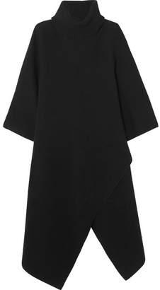 Chloé Oversized Cashmere Turtleneck Poncho - Black