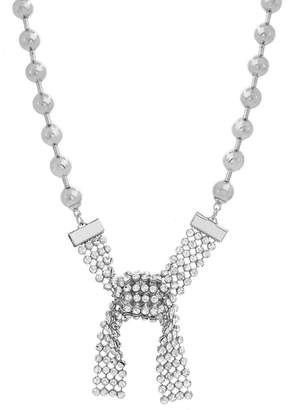 Steve Madden Casted Beaded Stone Collar Necklace