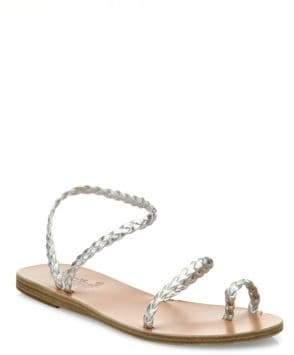 Ancient Greek Sandals Eleftheria Braided Nappa Leather Sandals