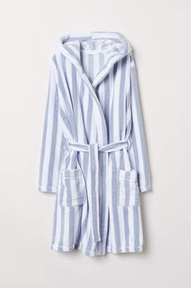 H&M Fleece Bathrobe - Blue