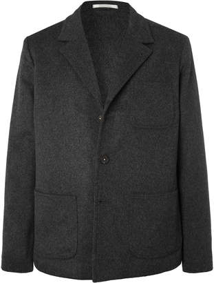 Massimo Alba Dark-Grey Unstructured Mélange Wool And Cashmere-Blend Blazer