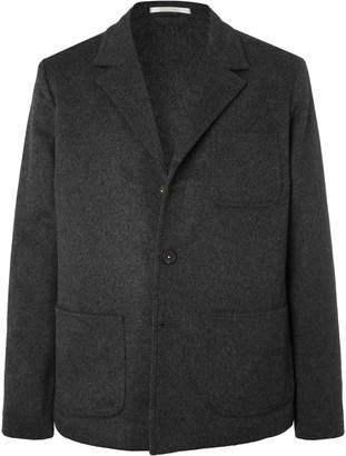 Massimo Alba Dark-Grey Unstructured Melange Wool And Cashmere-Blend Blazer