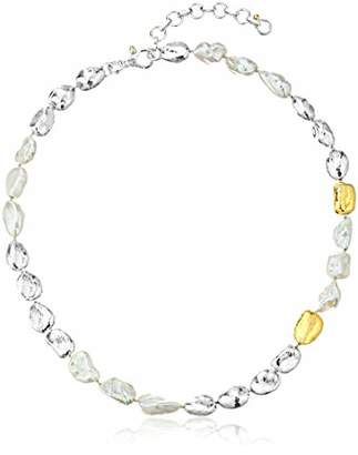 Gurhan Women's Spell Hue Collection Sterling Pearl Nugget Single Strand Necklace