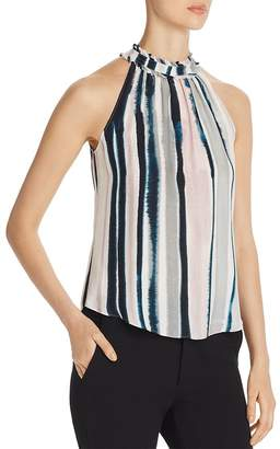 Go Silk Go by Sleeveless Tie-Dye-Stripe Top