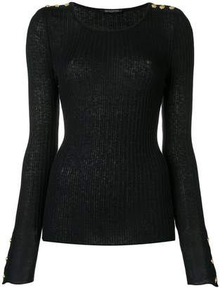 Balmain ribbed knit sweater