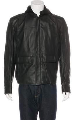 Zilli Owen Hooded Leather Jacket w/ Tags