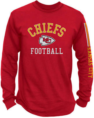 Authentic Nfl Apparel Men's Kansas City Chiefs Spread Formation Long Sleeve T-Shirt