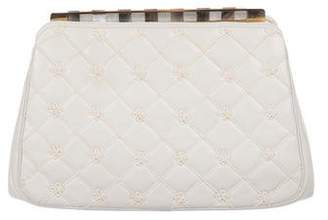 Judith Leiber Quilted Leather Clutch