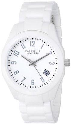 Bulova Caravelle New York by Women 's 45 m107セラミック腕時計