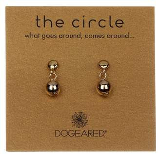 Dogeared 14K Yellow Gold Vermeil 'The Circle' Ball Bead Drop Earrings