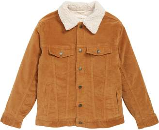 Tucker + Tate Corduroy Work Jacket with Faux Shearling Collar