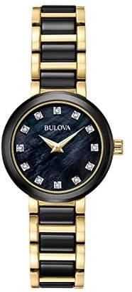 Bulova Women's Quartz Stainless Steel Dress Watch, Color:Two Tone (Model: 98P159) $375 thestylecure.com