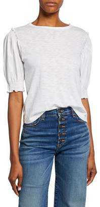Veronica Beard Cloud Puff-Sleeve Tee