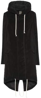 Rick Owens Hooded cotton jacket
