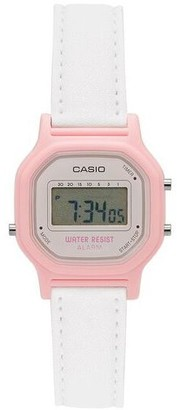 Casio Women's White and Pink Digital Watch