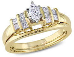 HBC CONCERTO 0.5CT Diamond 14K Two-Tone Gold Bridal Set