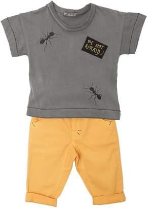 Jersey T-Shirt & Stretch Gabardine Pants