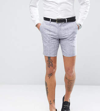 ONLY & SONS Skinny Shorts In Linen