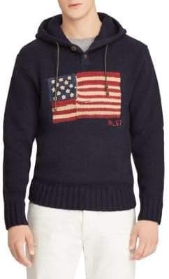 Polo Ralph Lauren Knit Wool Flag Hoodie