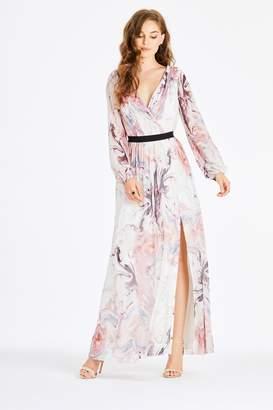 cbfa4b4f6d Next Womens Little Mistress Marble Print Plunge Maxi Dress