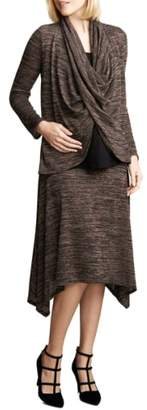Maternal America Drape Maternity/Nursing Top