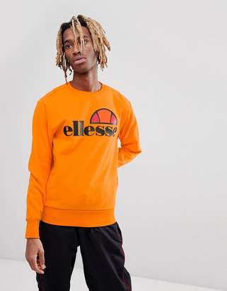 Ellesse Sweat With Large Chest Logo In Orange