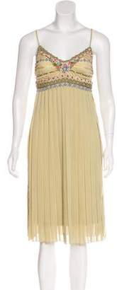 Sue Wong Sleeveless Pleated Dress