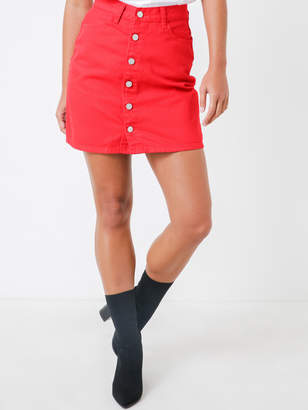 Nude Lucy Lamar Denim Skirt in Red