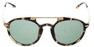 Dries Van Noten x Linda Farrow Tortoiseshell Round Sunglasses