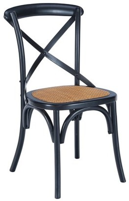 Ash Poly and Bark Cafton Crossback Chair in Black
