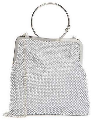 Jessica McClintock Jill Beaded Mesh Clutch