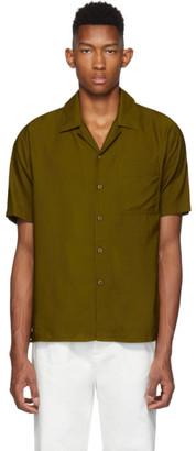 Ami Alexandre Mattiussi Brown Camp Collar Shirt