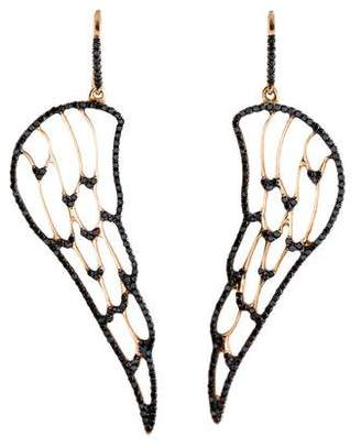Ileana Makri 18K Diamond Angel Wing Drop Earrings
