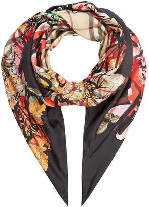 Burberry Floral Scribble Scarf