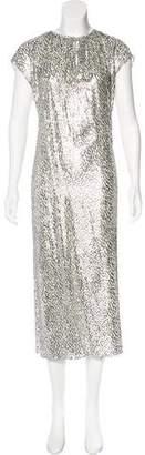 Michael Kors Metallic Fringe Maxi Dress w/ Tags