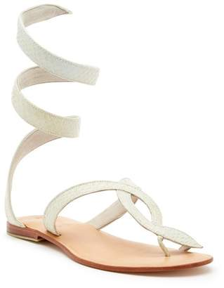 Cocobelle L SPACE X Snake-Embossed Wrap Sandal