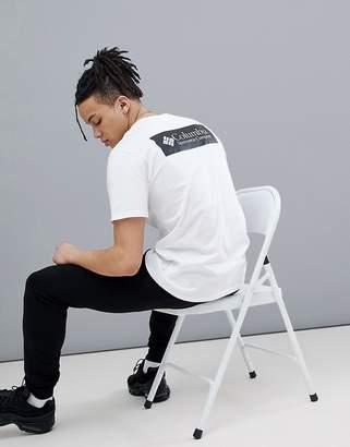 Columbia Back Logo Print T-Shirt In White/Black