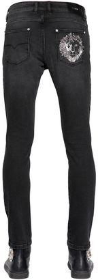 17cm Lion Distressed Cotton Denim Jeans $395 thestylecure.com