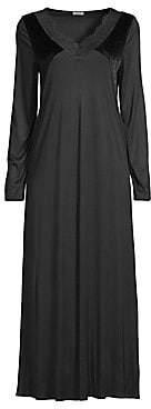 Hanro Women's Ava Velvet Long-Sleeve Night Gown