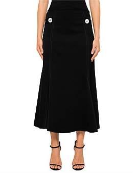 Ellery Honey Fluted Hem Skirt