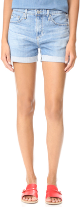 AG The Hailey Slouchy Roll Up Shorts $158 thestylecure.com