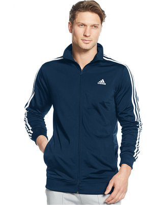 adidas Men's Tricot Full-Zip Track Jacket $50 thestylecure.com
