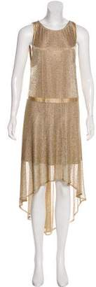Zadig & Voltaire Metallic High-Low Dress w/ Tags