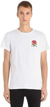 Kent & Curwen Rose Patch Cotton Jersey T-Shirt