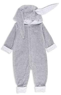 Livly Unisex Velour Hooded Romper with Bunny Ears - Baby