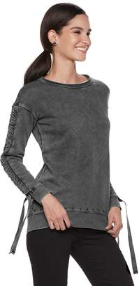 Rock & Republic Women's Ruched-Sleeve French Terry Sweatshirt