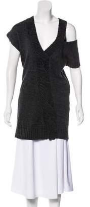 VPL Short Sleeve Knit Sweater Top